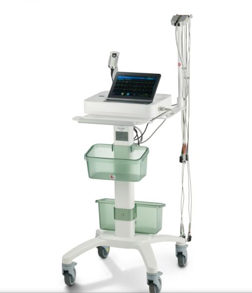 MAC 7 Ruhe EKG, Touchscreen 12 SL Interpretation und Messung mit KISS Sauganalage und Gerätewagen SE